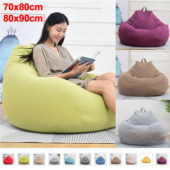 Bean Bag Sofa Signle Chair Cover Lounger Sofa Ottoman Seat Room Furniture Without Filler Beanbag Bed Pouf Puff Couch Lazy Tatami