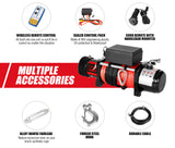 14500LBS Electric Winch Synthetic Rope Wireless Remote 6577kg 12V ATV 4WD Truck