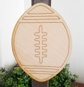 "Football 5"" Laser Cut Shape"