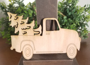 "Vintage Truck with Tree 5"" Laser Cut Shape"