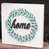 "Home Wreath 5"" Laser Cut Shape"