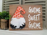 Interchangeable Gnome sign plaid fall thanksgiving turkey autumn DIY craft kit
