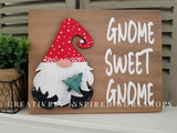 Interchangeable Gnome sign Christmas Xmas tree winter Santa  DIY craft kit