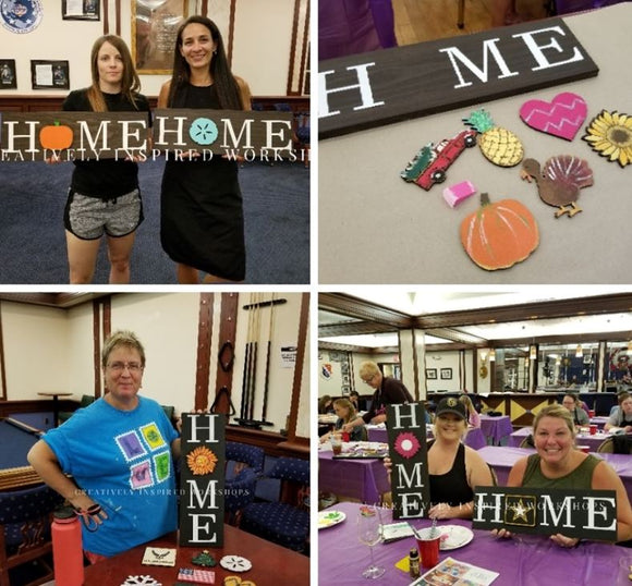 Interchangeable Home Sign- DIY Craft Kit- FREE Shipping