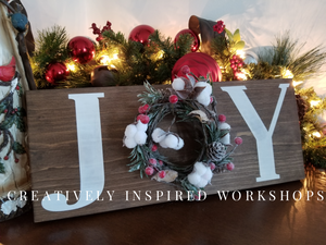 December 12th-PUBLIC Event- JOY Sign at ColdWater Creek