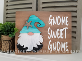 Interchangeable Gnome sign Sea Ocean Nautical décor  DIY craft kit