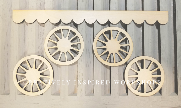 Scallop and Wheels (1 Set)
