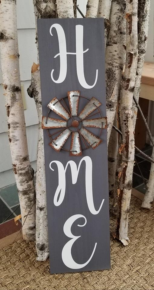 Windmill Home Sign- Large