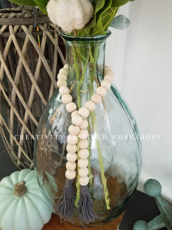 Wood Bead Garland (Medium)