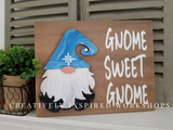 Interchangeable Gnome sign Winter Snow seasonal snowflake DIY craft kit