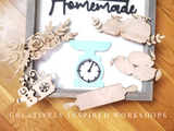 Farmhouse Scale and Interchangeable Wood Shapes- 1 set