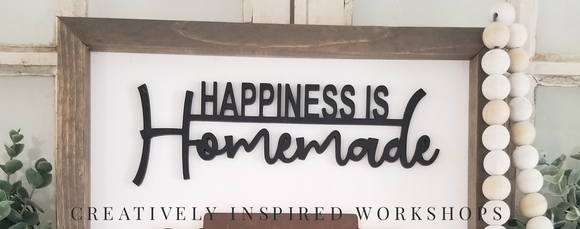 Happiness is Homemade Wood Cutout