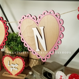 Heart Banner DIY Kit- FREE SHIPPING