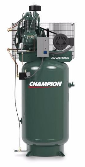 Champion 7.5hp Vertical Air Compressor (Free Freight) - The Carlson Company