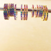 Rainbow Huggie Hoops
