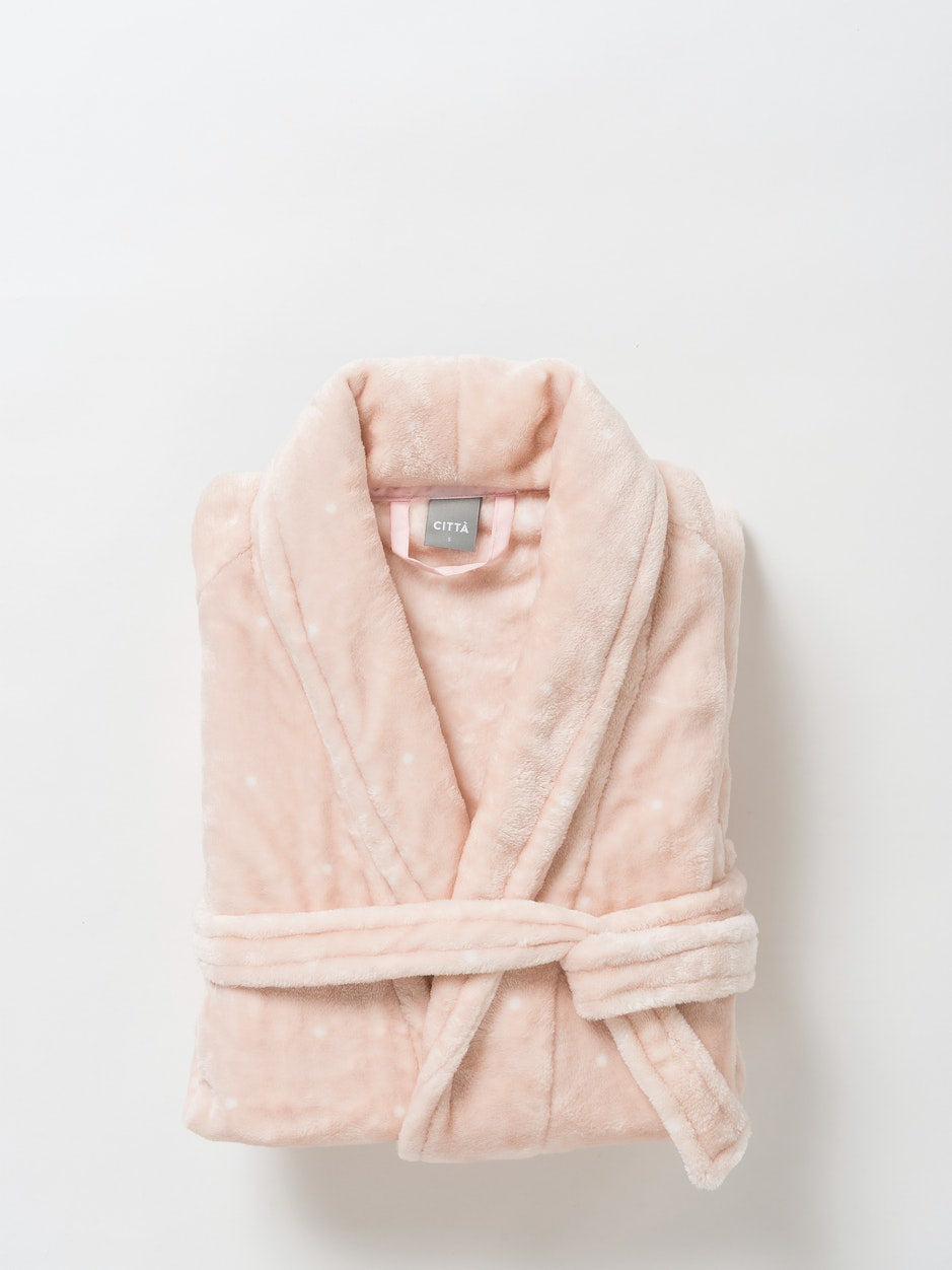 Spot Women's Velour Dressing Gown/Peony