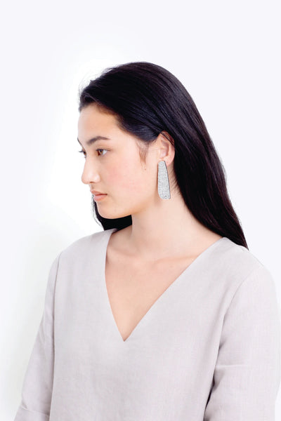 Elk 'Franja' Earrings in Light Grey