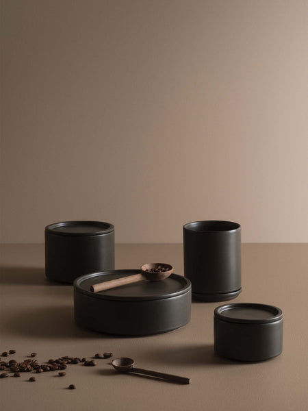 Citta Large 'Bower' Ceramic Canister in Nori