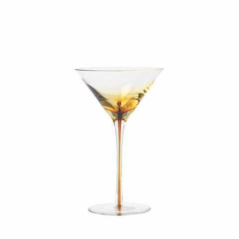 Broste, Amber Martini Glass from Black & Dane, Westport, NZ