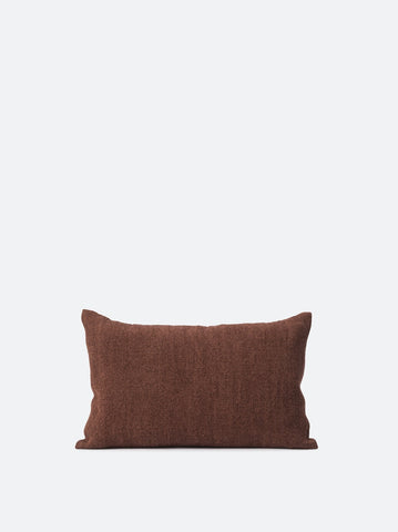 Citta Heavy Linen Jute Cushion Cover in Plum
