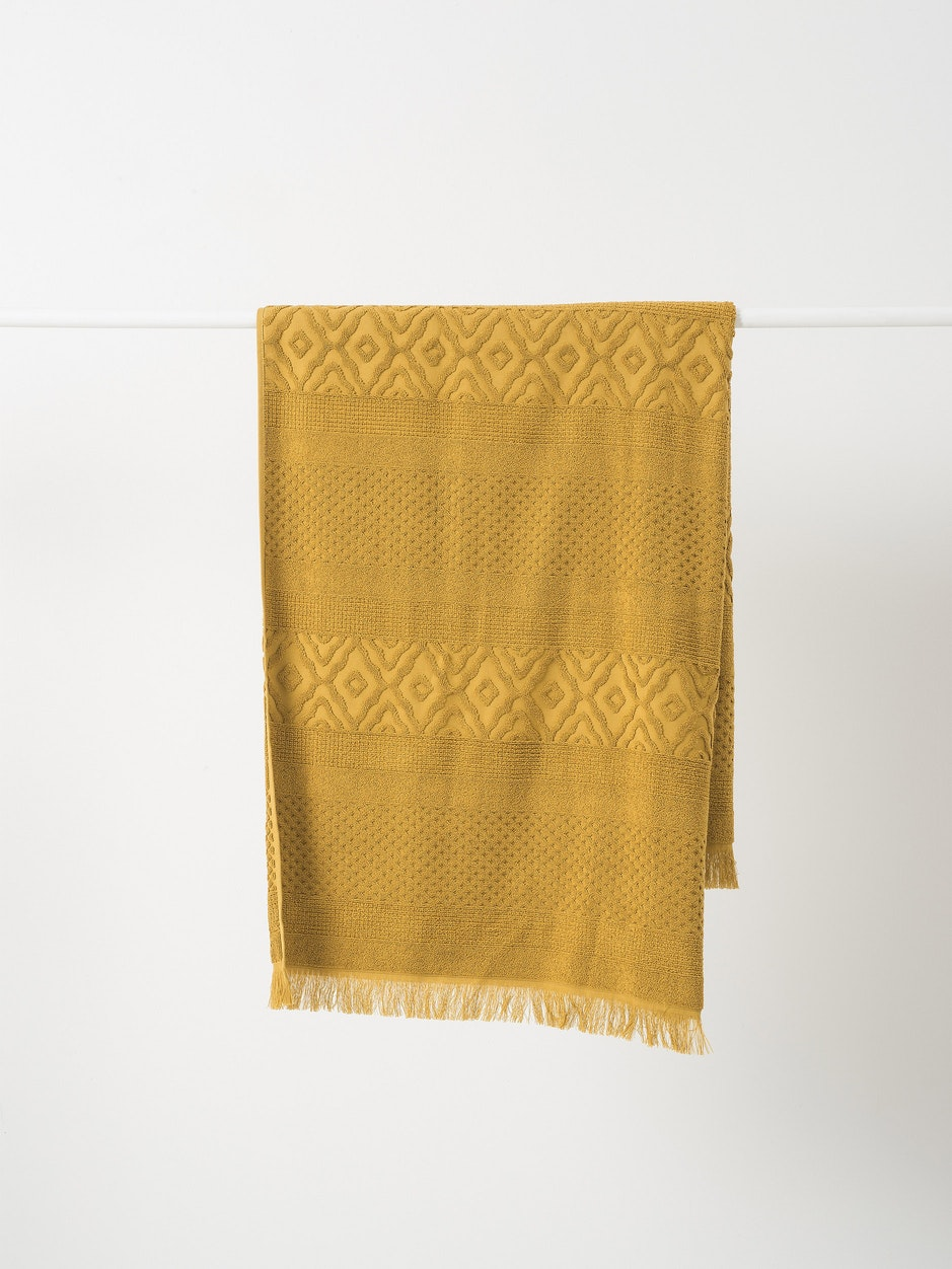Citta Jacquard Bath Towel in Citron