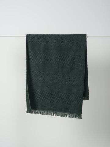 Citta Jacquard Bath Towel in Moss