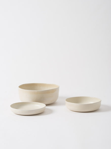 Citta Off White  'Milu' Serving Bowl from Black & Dane, Westport, NZ