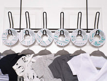 Load image into Gallery viewer, Baby Hangers & Closet Dividers - (Teal Chevron)