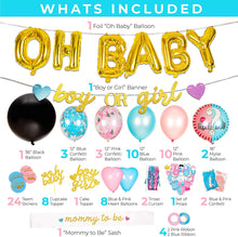Load image into Gallery viewer, Gender Reveal Party Supplies - (116 Pieces)