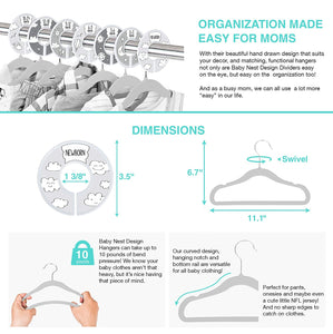 Baby Hangers and Closet Dividers (Clouds)
