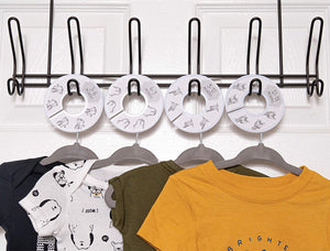 Baby Hangers and Closet Dividers (Gray Animals)