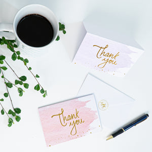 Watercolor Thank You Cards (48 Pack)