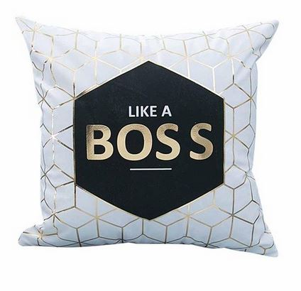 Like A Boss Throw Pillow