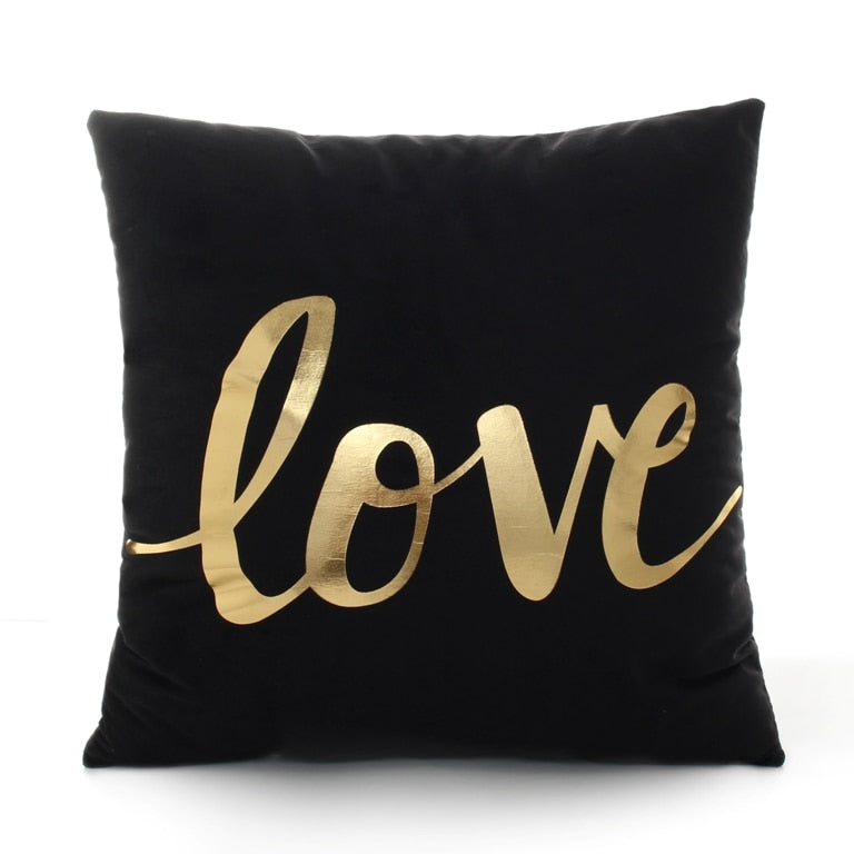Bronze Love Throw Pillow
