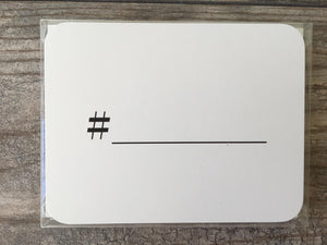 hashtag note cards