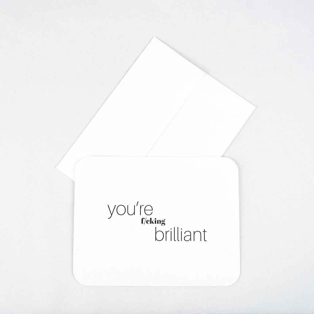 Brilliant Letterpress Note Card
