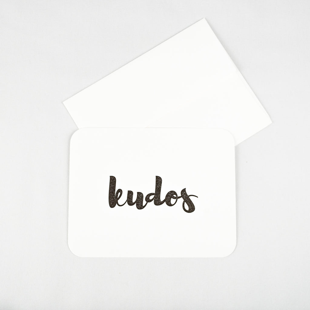 Kudos Letterpress Note Card