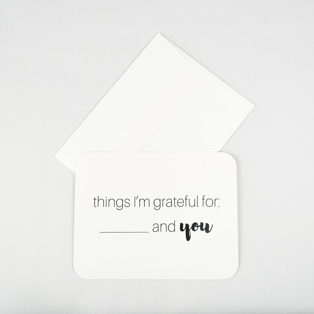 Grateful For You Note Card