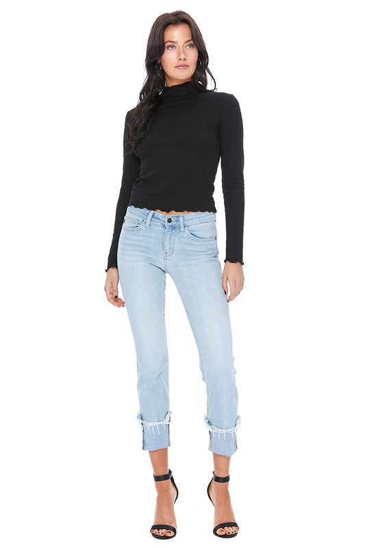 Cuffed Relaxed Fit Skinny