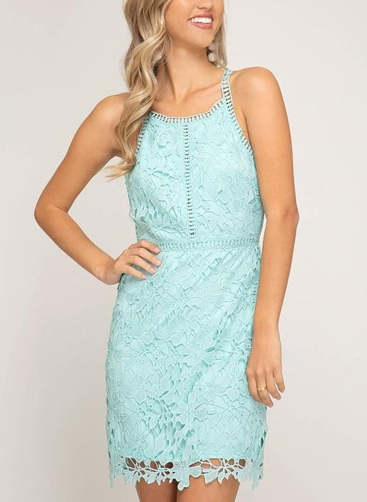 Lovely in Lace dress (Mint)
