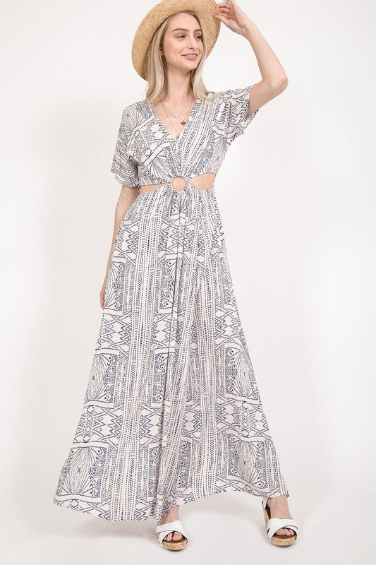Summer Blues Maxi Dress
