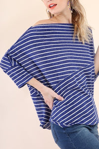 Stripes away top