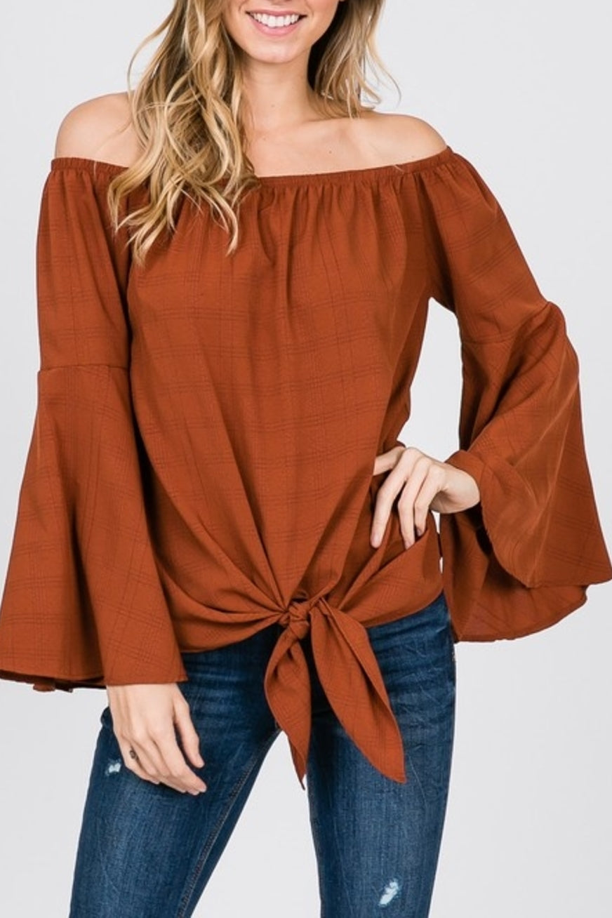 off the shoulder obsession top