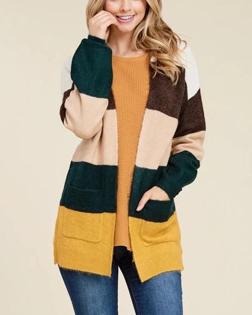 Falling Into Stripes Cardigan
