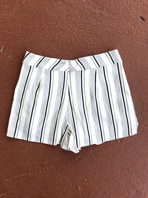 Playful Pinstripes Shorts