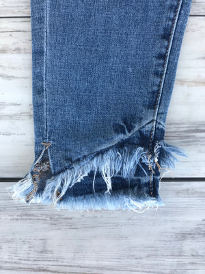 KanCan Double Frayed Crop Jean