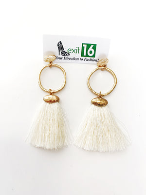 Lila Earrings - Ivory