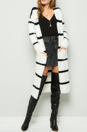 Classic Stripe Cardigan Sweater
