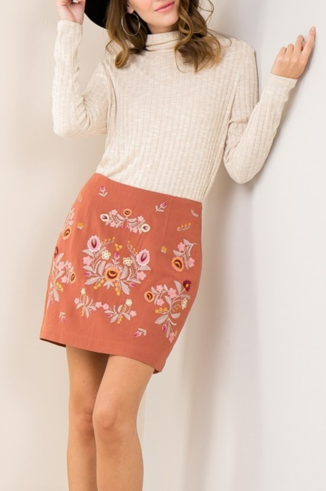 Embroidery Trend Skirt