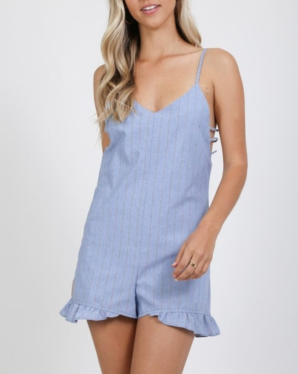 Perfect Pinstripe Romper